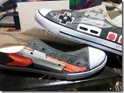 canvas NES shoes